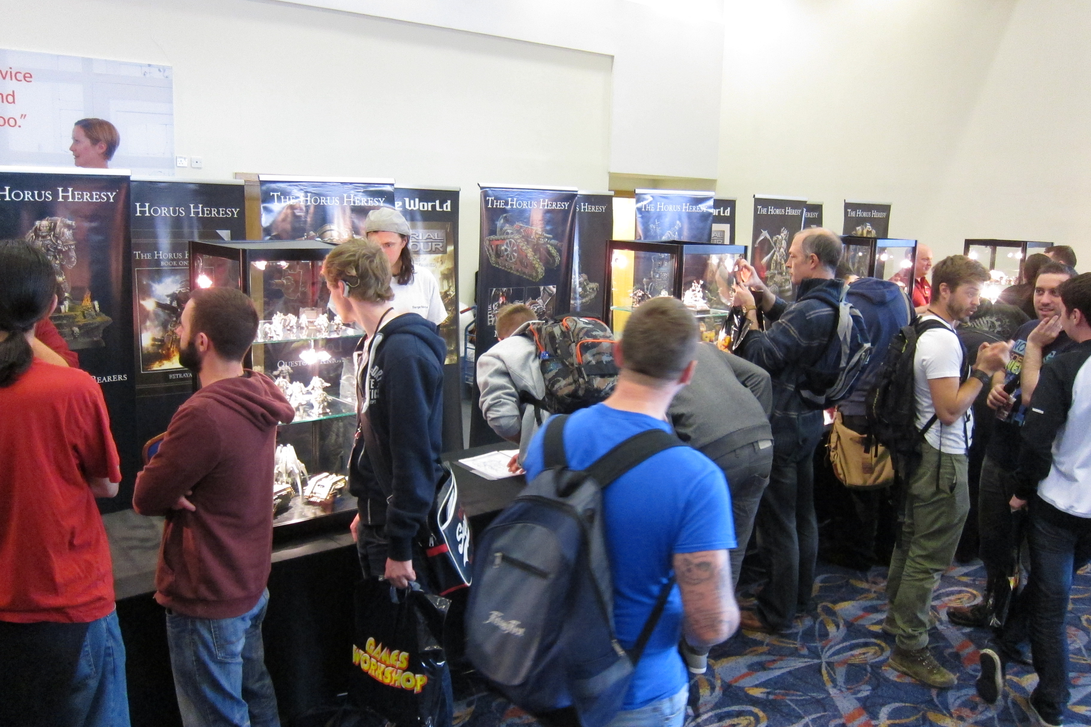 LOTS of Forge World staff on hand to talk to